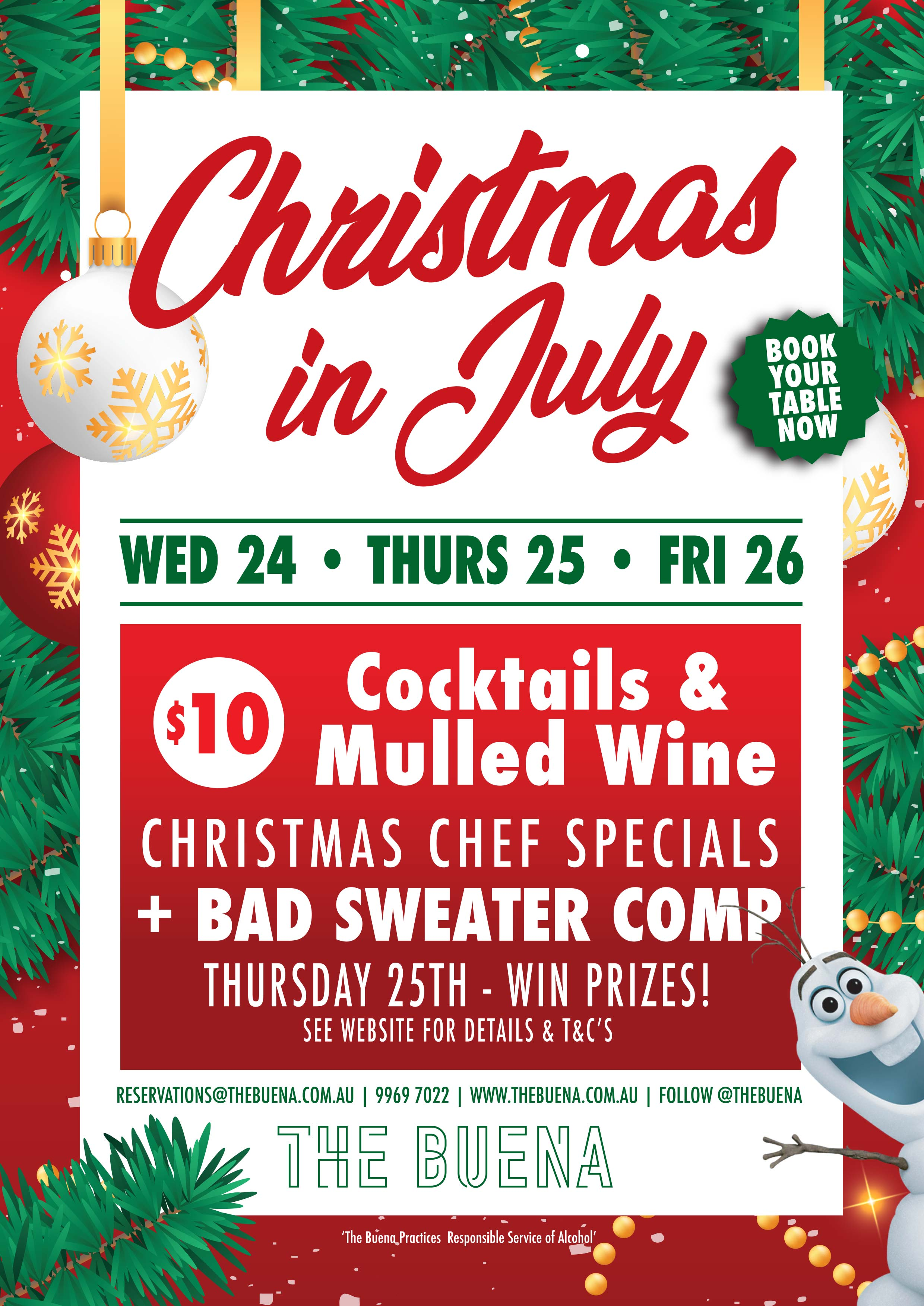 Christmas In July Red The Buena The Buena