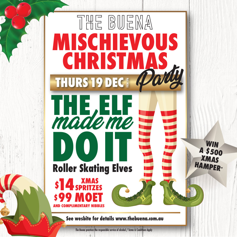 The Elves Made Me Do It Christmas Party