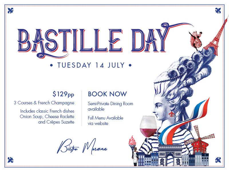 Celebrate Bastille Day at Bistro Mosman