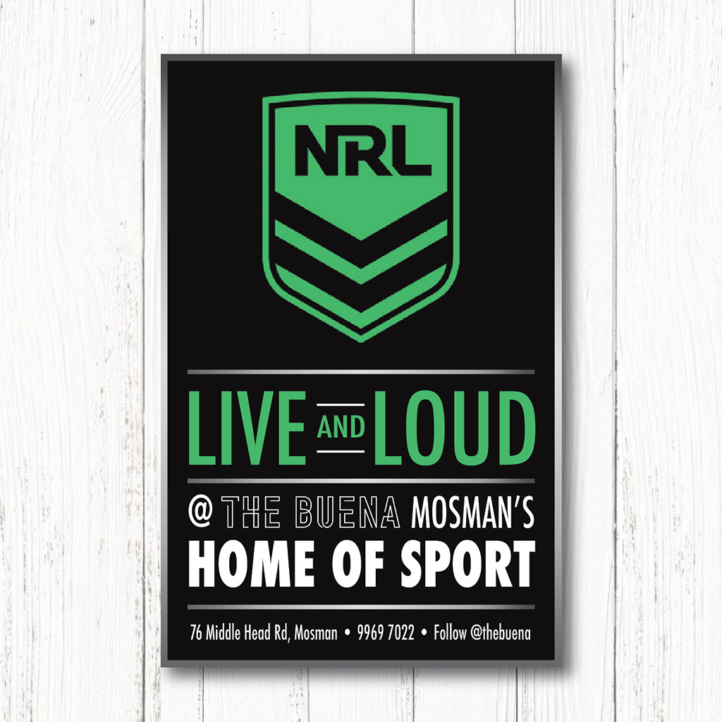NRL games live and loud