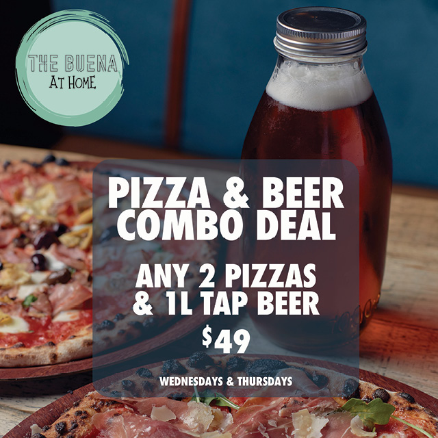 The Buena Pizza and Beer Combo Takeaway